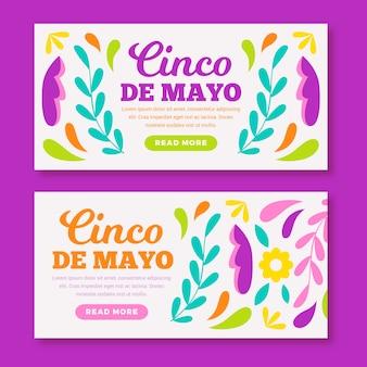 Cinco de mayo in design piatto