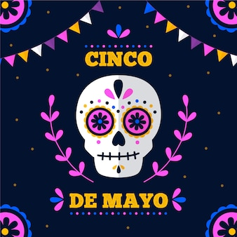 Cinco de mayo in design piatto