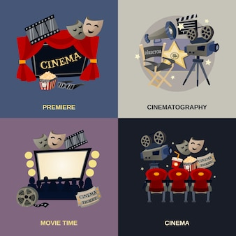 Cinema flat set