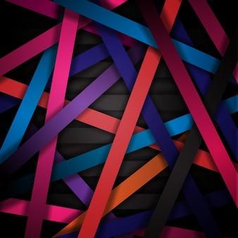 Cinghie colorate su sfondo nero