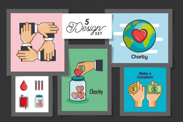 Cinque carte per fare una donazione