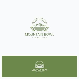 Ciotola da montagna logo design ispirazione