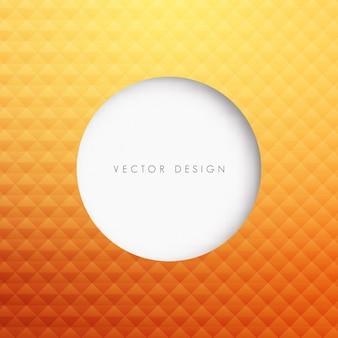 Circle in sfondo arancione