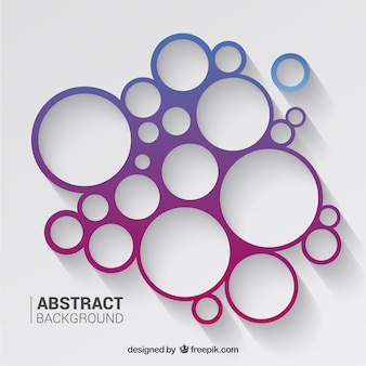 Circles background in toni di viola e blu
