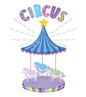 Circo con gioco di carosello elettrico