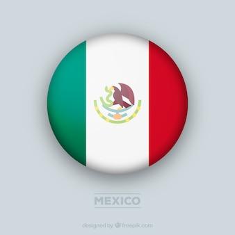 Circolare sfondo bandiera messicana