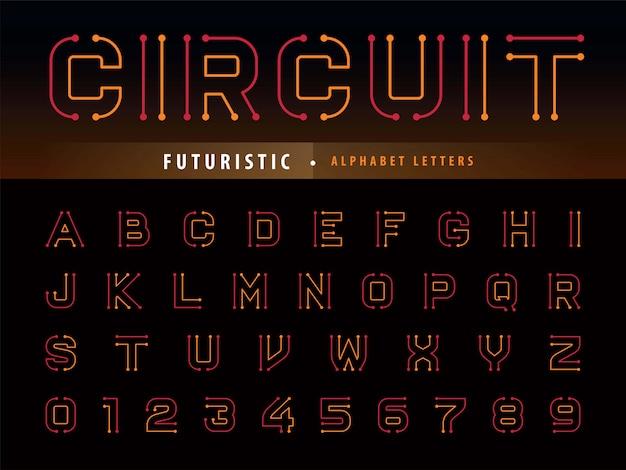 Circuito alfabeto lettere