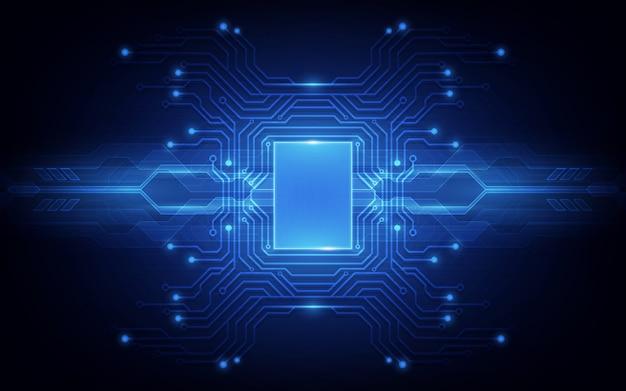 Circuito astratto del fondo del processore di chip di tecnologia