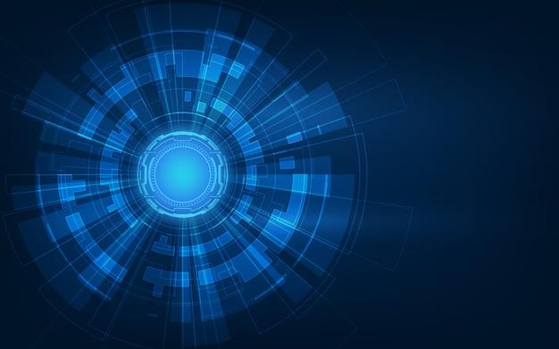 Circuito futuristico astratto, priorità bassa di concetto di alta tecnologia digitale del computer.