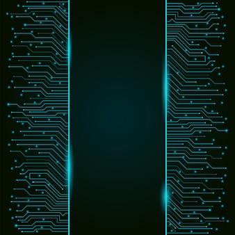 Circuito stampato, tecnologia high-tech verticale, trama di sfondo