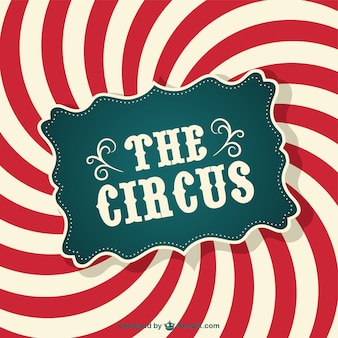 Circus colore astratto ricciolo manifesto