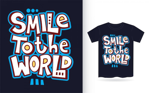 Citazione di arte scritta a mano motivazione per t-shirt