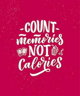 Citazione divertente, citazione ispiratrice per la stampa di caffè o prodotti da forno. slogan lettering dessert in stile disegnato a mano.