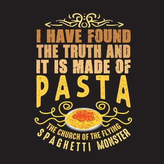 Citazione e parole sulla pasta. ho trovato la verità
