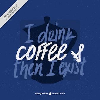 Citazione esistenziale con sfondo macchina per il caffè