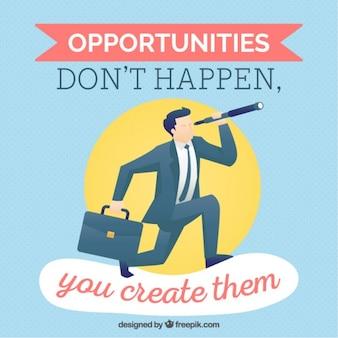 Citazione inspirational sulle opportunità