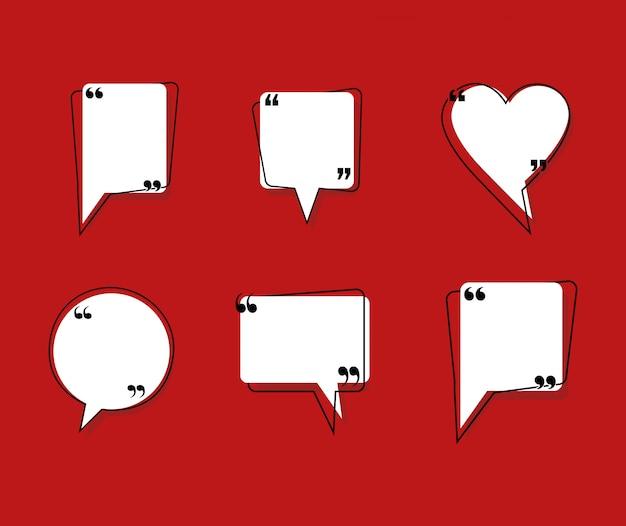 Citazioni bolle di comunicazione