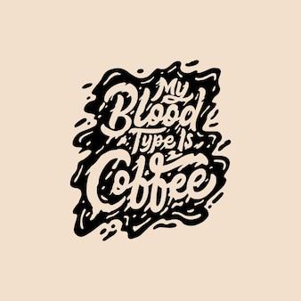 Citazioni di mano lettering e tipografia caffè
