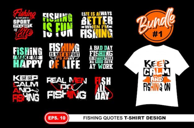 Citazioni di pesca per maglietta