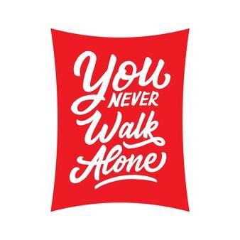 Citazioni motivazionali poster lettering / tipografia