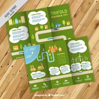 Città ecologica trifold