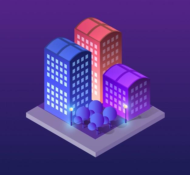 Città illustrazione del concetto