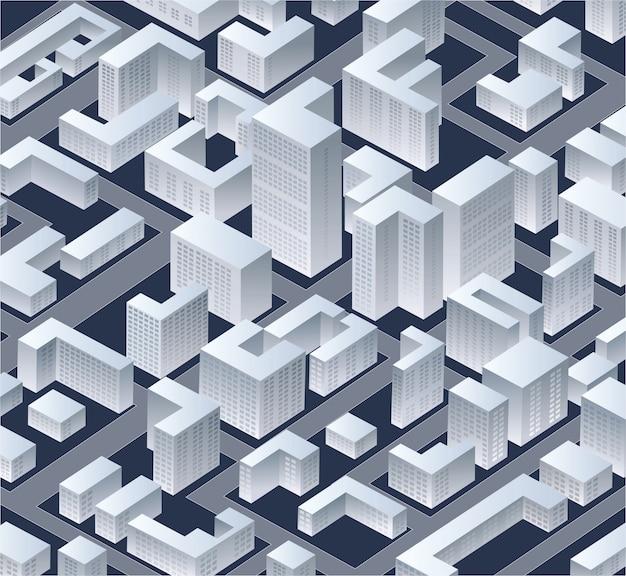 Città isometrica di vettore