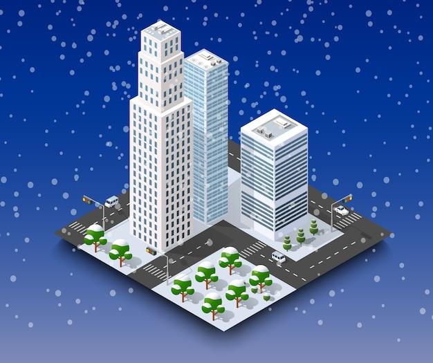 Città paesaggio invernale