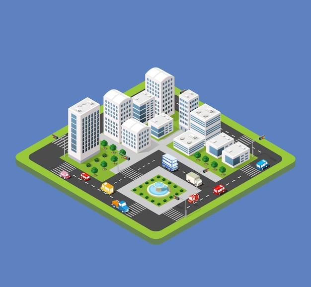 Città urbana isometrica