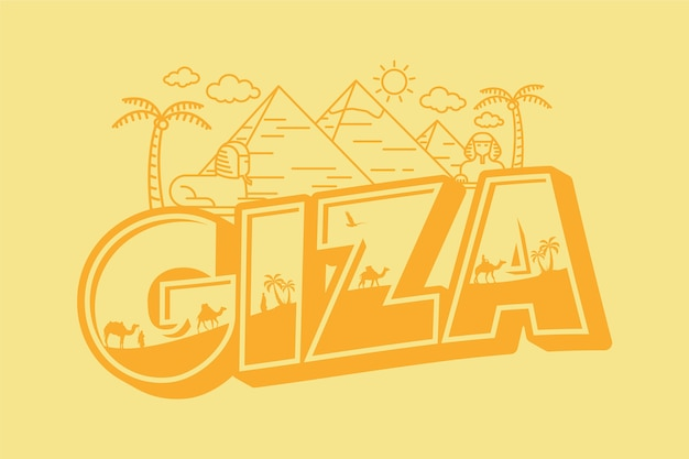 Ciza city lettering
