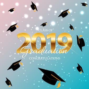 Classe di 2019 graduarion education background.
