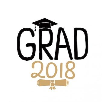 Classe di laurea del set di biglietti di auguri 2018