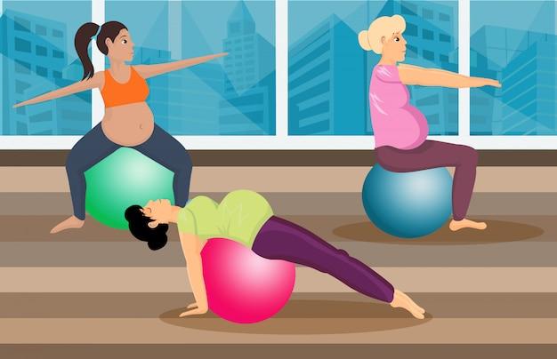 Classe di pilates prenatale piatta