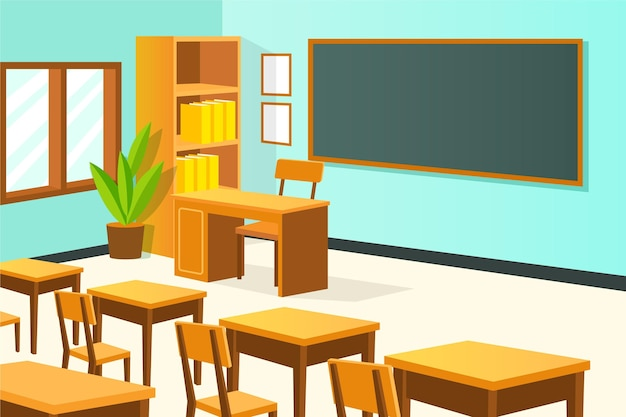 Classe di scuola vuota - sfondo per videoconferenze