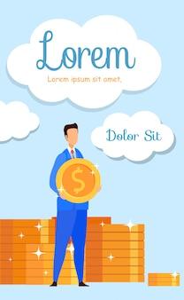 Classi di gestione finanziaria flyer piatto, brochure