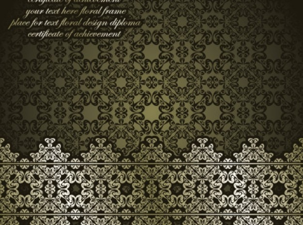 Classic antique arte background vector set