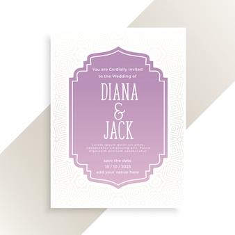 Classica carta di invito a nozze