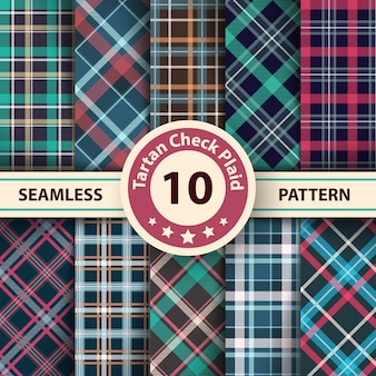 Classico scozzese, merry christmas check plaid seamless patterns