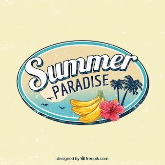 Classico sfondo tropicale con stile vintage