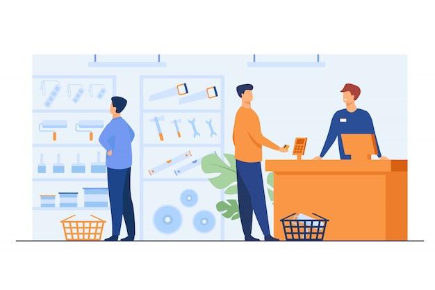 Clienti del negozio di utensili
