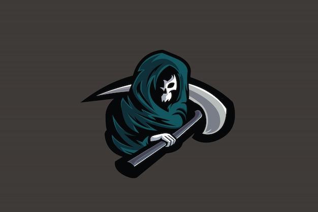 Clip art green scythe per logo esports