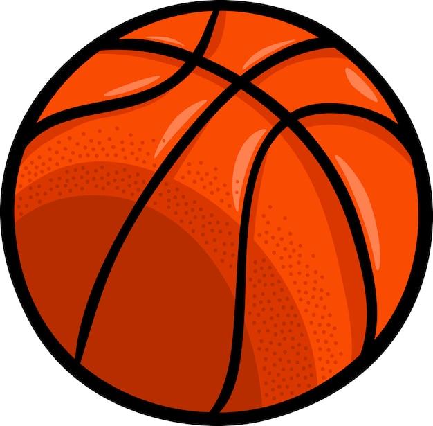 Clipart della palla di pallacanestro del fumetto