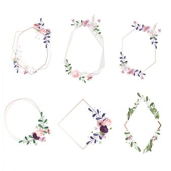 Clipart di fiori ad acquerello, peonie dipinte a mano, eucalipto, bouquet di fiori