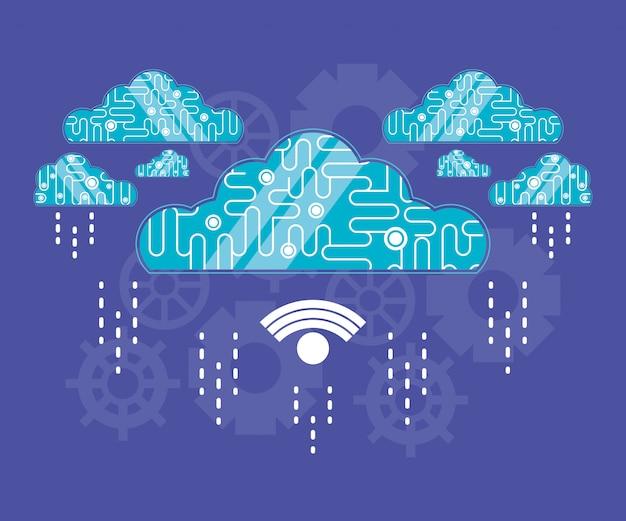 Cloud computing con connessione wifi