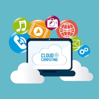 Cloud computing design.