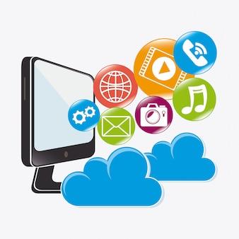 Cloud computing design.