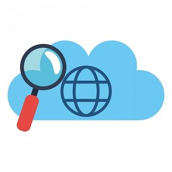Cloud computing e lente d'ingrandimento