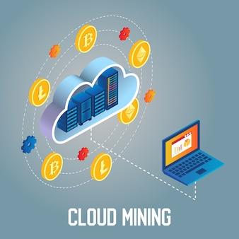 Cloud mining isometrico