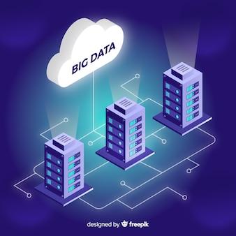 Cloud sfondo di grandi quantità di dati