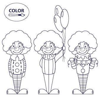 Clowns. un'immagine per colorare.